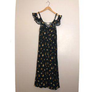 Altar'd State Daisy Print Button Down Maxi Dress